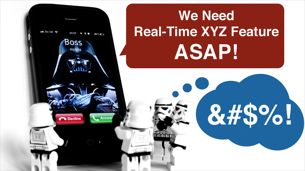 We Need ! Real-Time XYZ Feature! ASAP! &#$%!