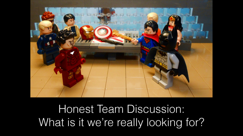 Honest Team Discussion: What is it we're really...
