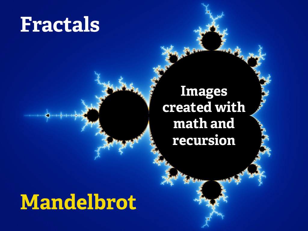 Fractals Images created with math and recursion...