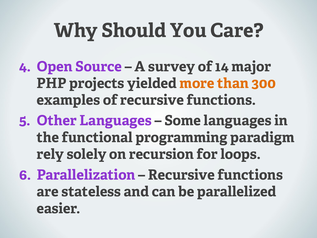 Why Should You Care? 4.  Open Source – A survey...