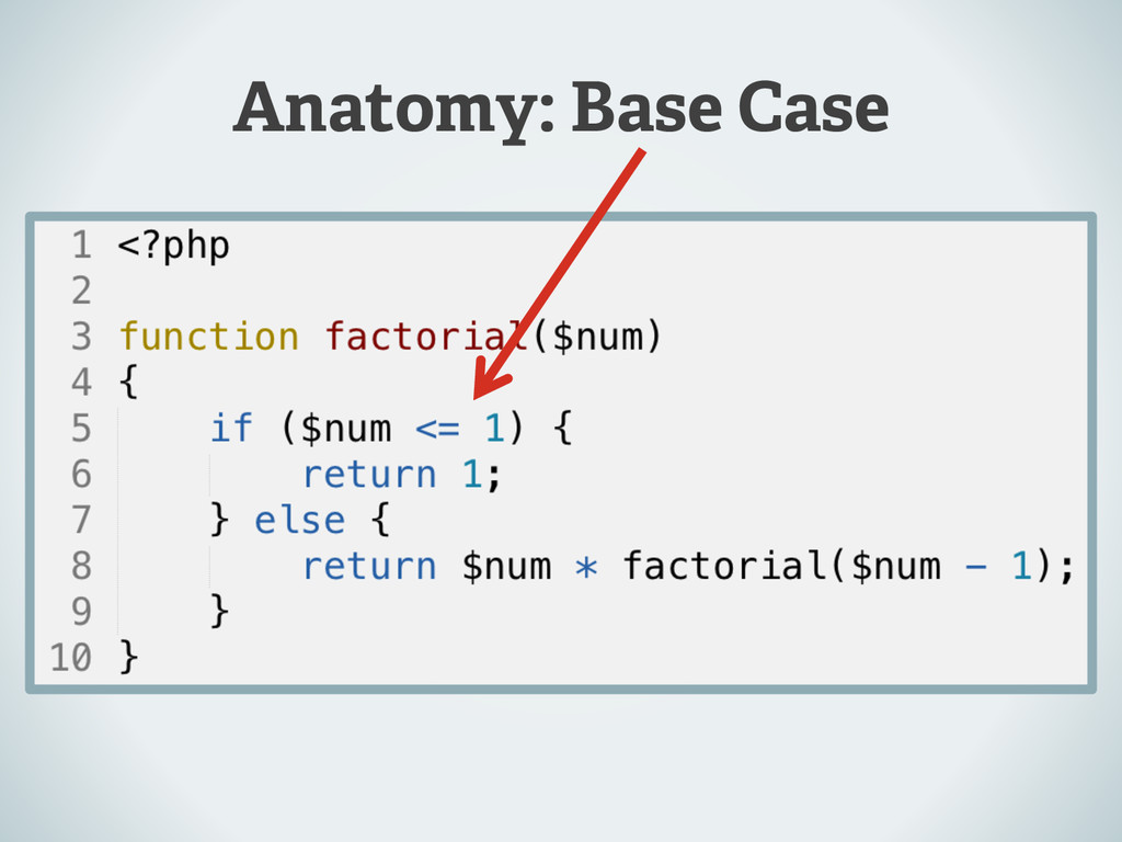 Anatomy: Base Case