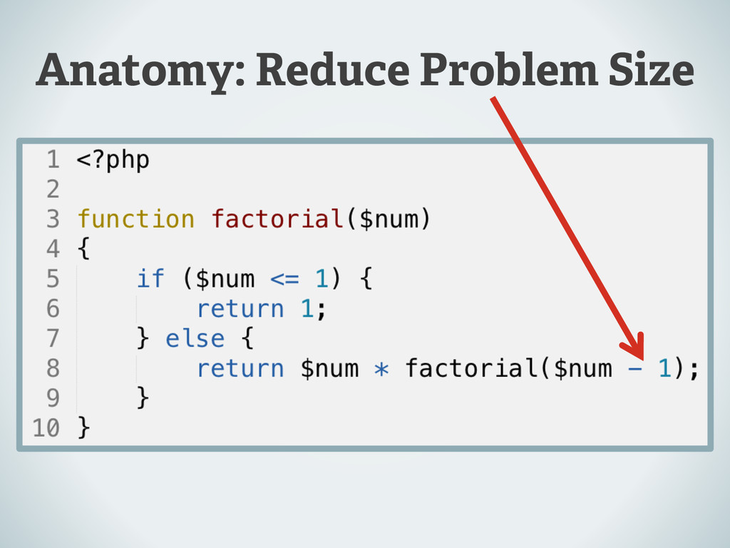 Anatomy: Reduce Problem Size