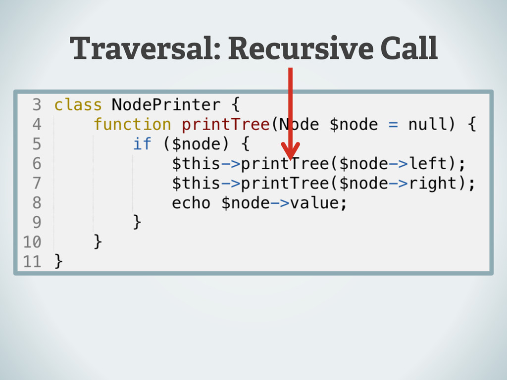 Traversal: Recursive Call