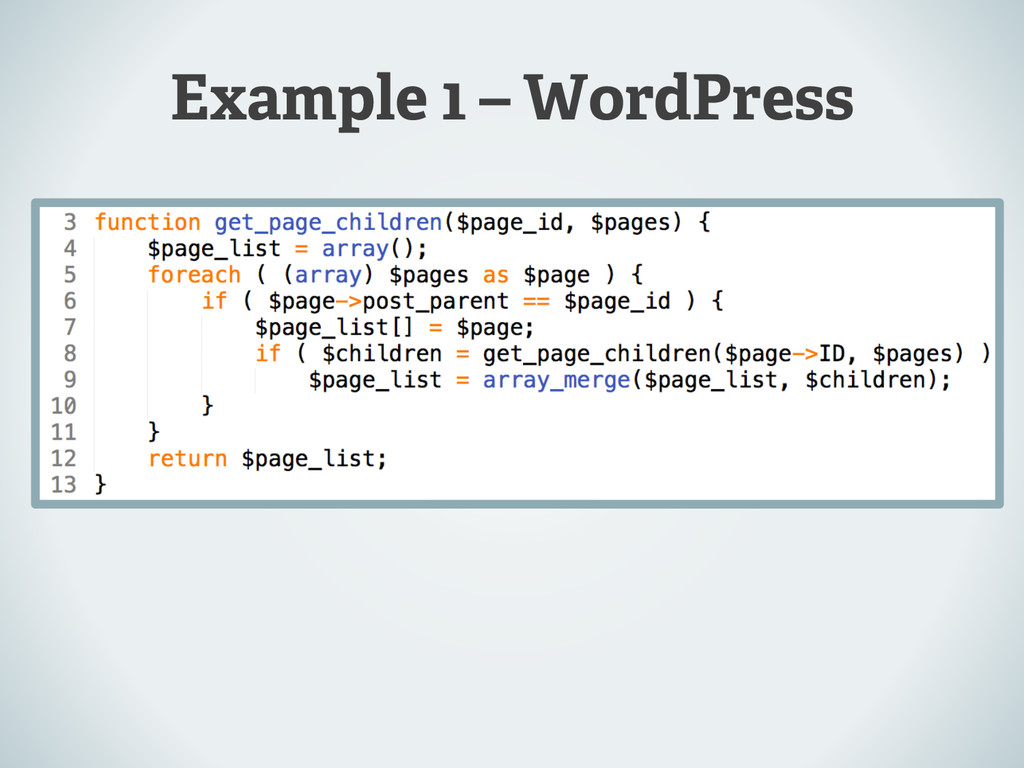 Example 1 – WordPress