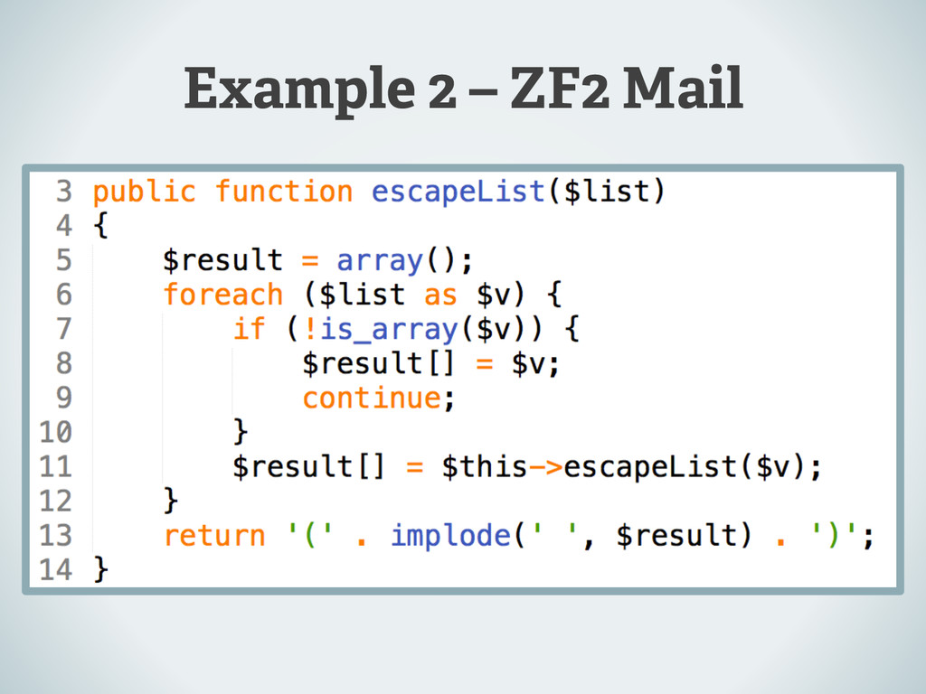 Example 2 – ZF2 Mail