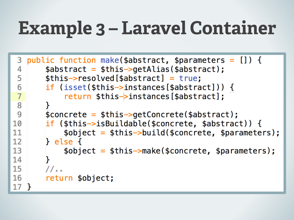 Example 3 – Laravel Container