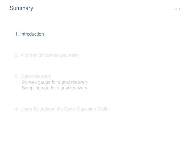 4 / 30 Summary 1. Introduction 2. A primer on c...