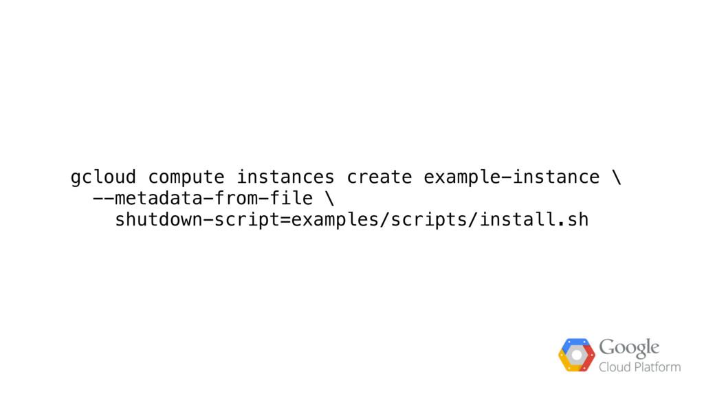 gcloud compute instances create example-instanc...