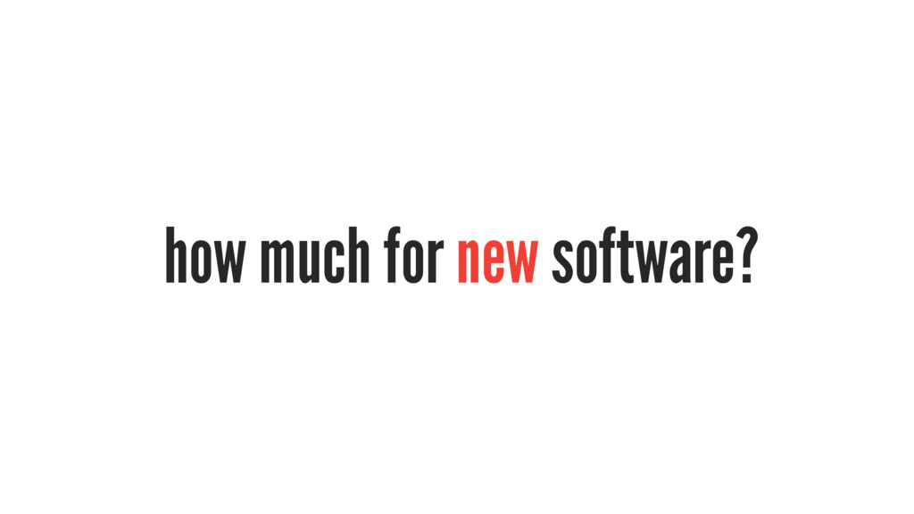 how much for new software?