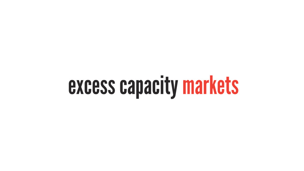 excess capacity markets
