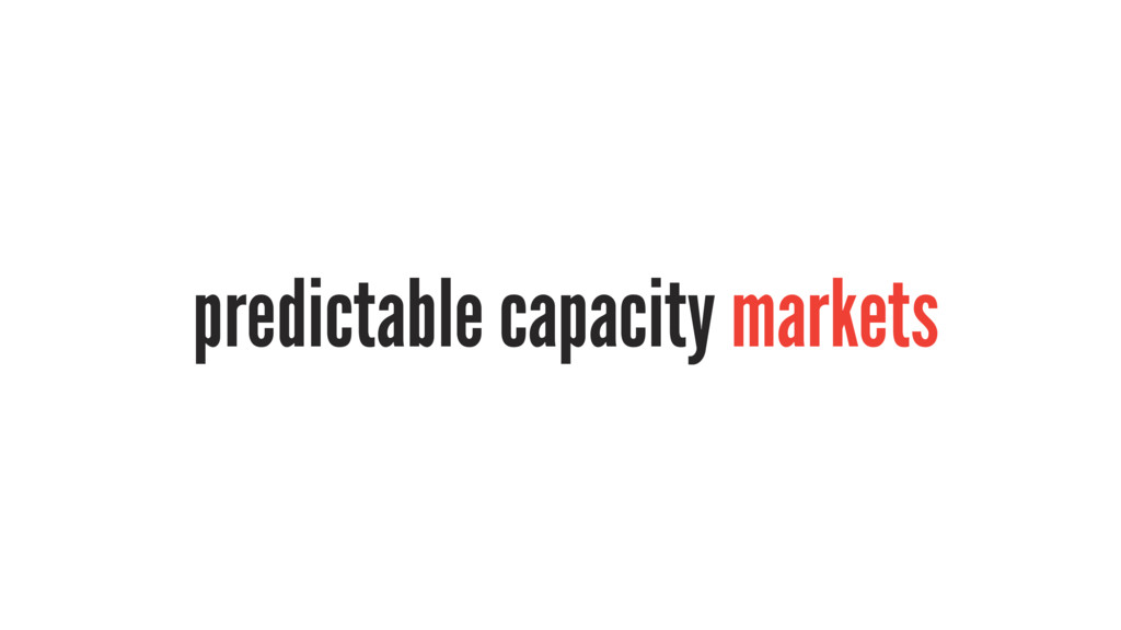 predictable capacity markets