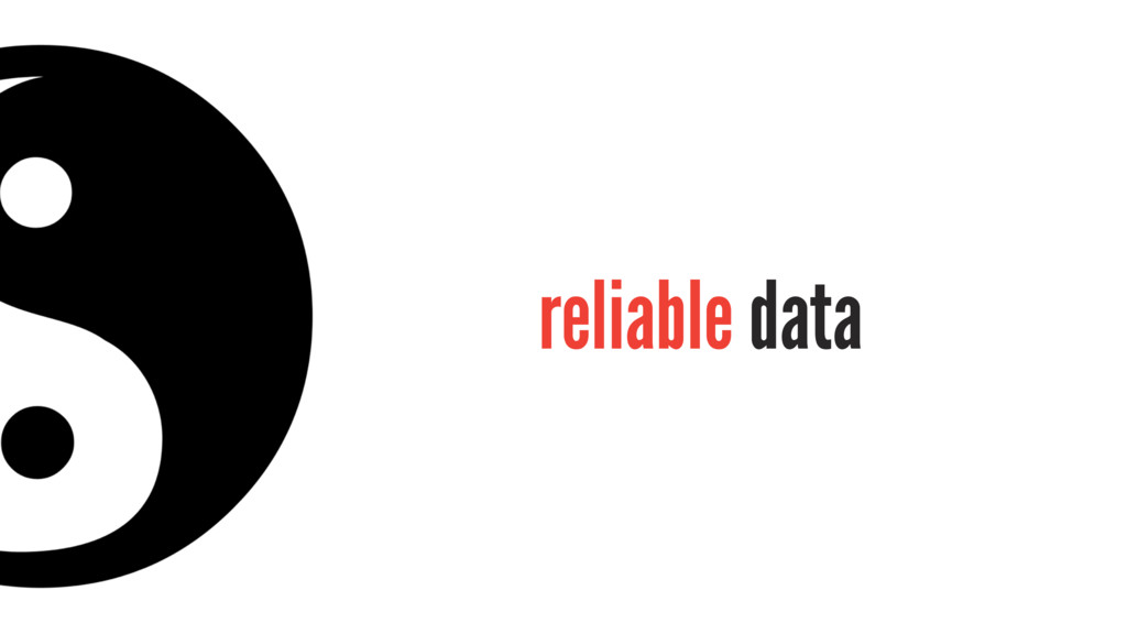 reliable data