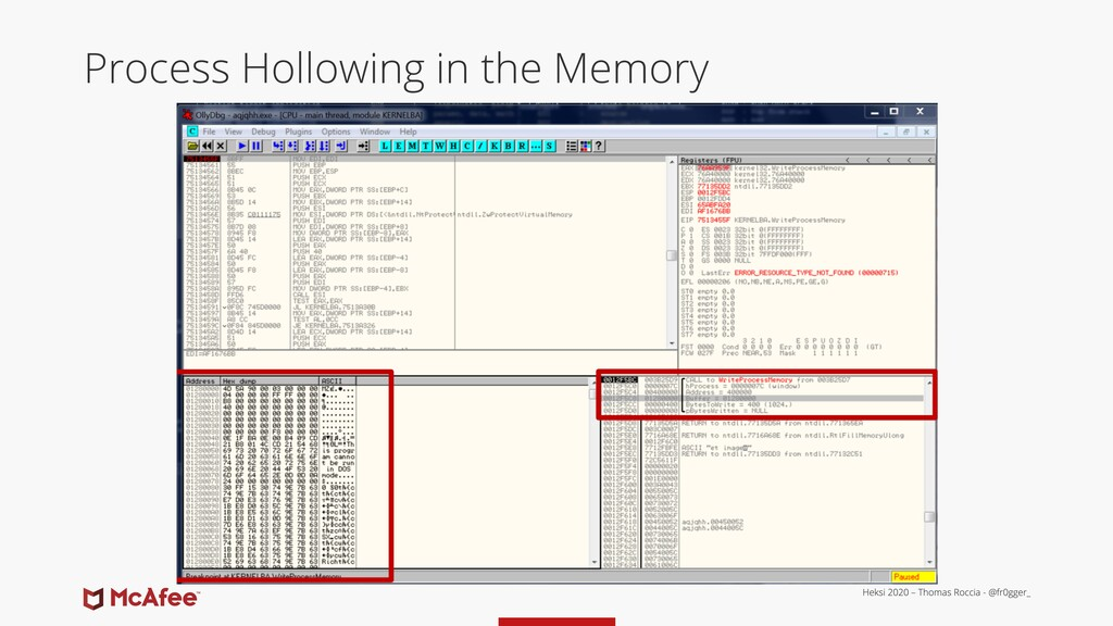 Process Hollowing in the Memory