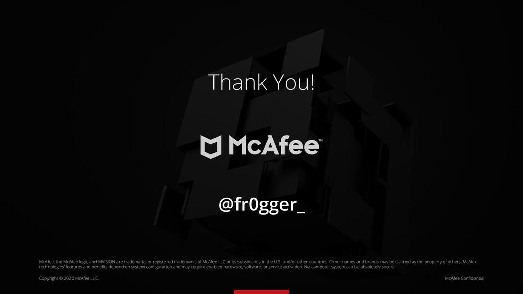 Thank You! @fr0gger_