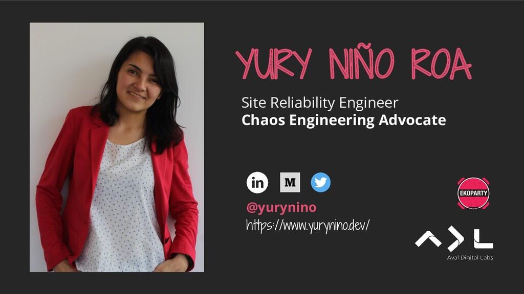 YURY NIÑO ROA Site Reliability Engineer Chaos E...