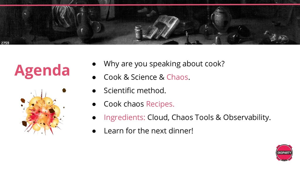 ● Why are you speaking about cook? ● Cook & Sci...