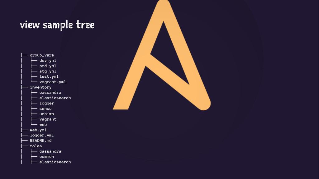 view sample tree ├── group_vars │ ├── dev.yml │...