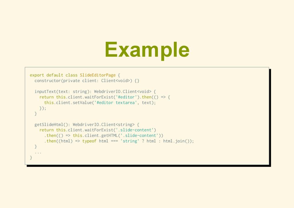 Example export default class SlideEditorPage { ...