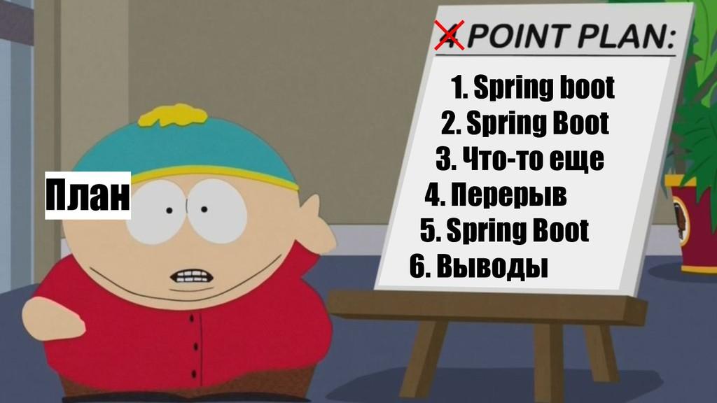 План 1. Spring boot 2. Spring Boot 3. Что-то ещ...