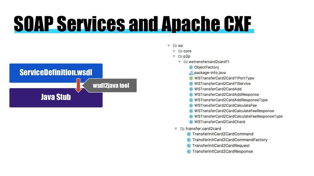 SOAP Services and Apache CXF ServiceDefinition....