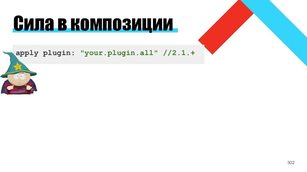 """Сила в композиции apply plugin: """"your.plugin.al..."""