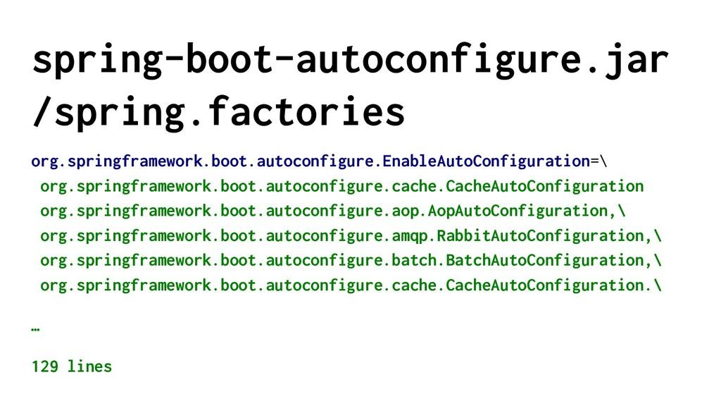 spring-boot-autoconfigure.jar /spring.factories...