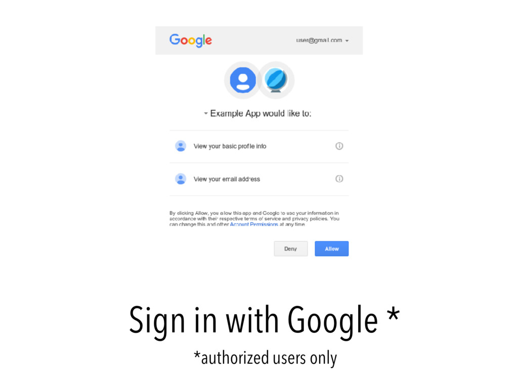 Sign in with Google * *authorized users only