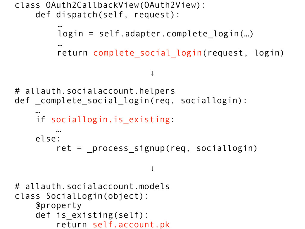 class OAuth2CallbackView(OAuth2View): def dispa...