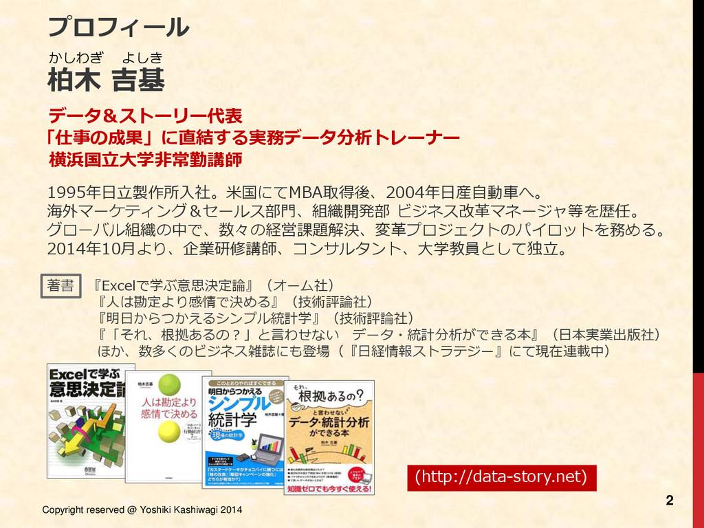 Copyright reserved @ Yoshiki Kashiwagi 2014 2 プ...