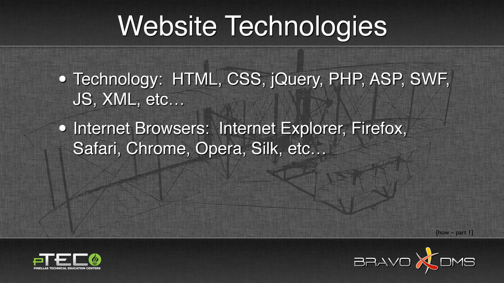 BRAVO DMS BRAVO DMS Website Technologies • Tech...