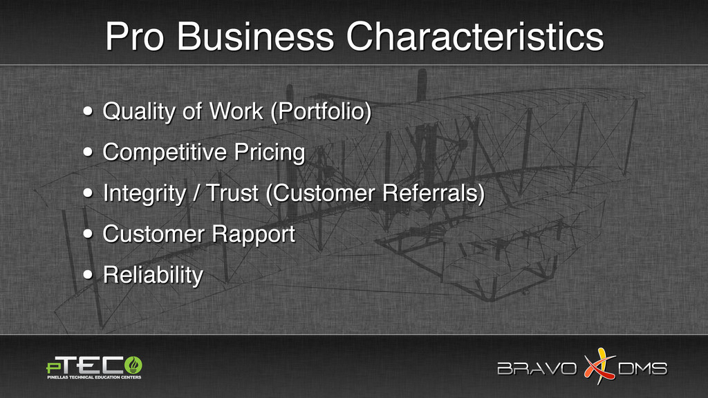 BRAVO DMS BRAVO DMS Pro Business Characteristic...