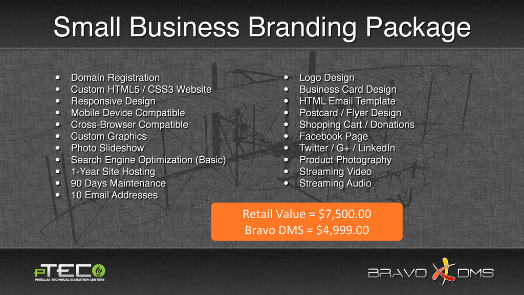 BRAVO DMS BRAVO DMS Small Business Branding Pac...