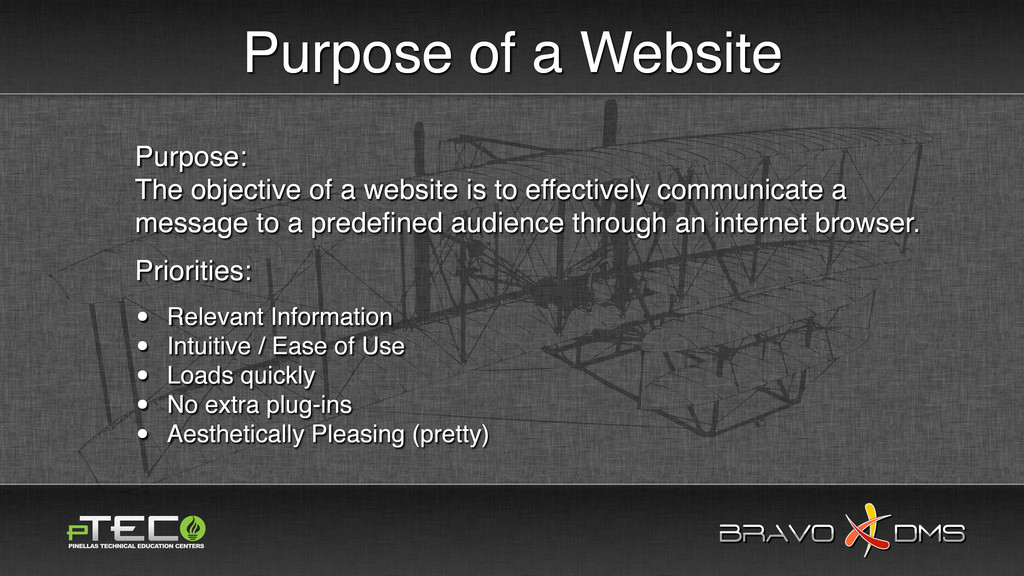 BRAVO DMS BRAVO DMS Purpose of a Website Purpos...