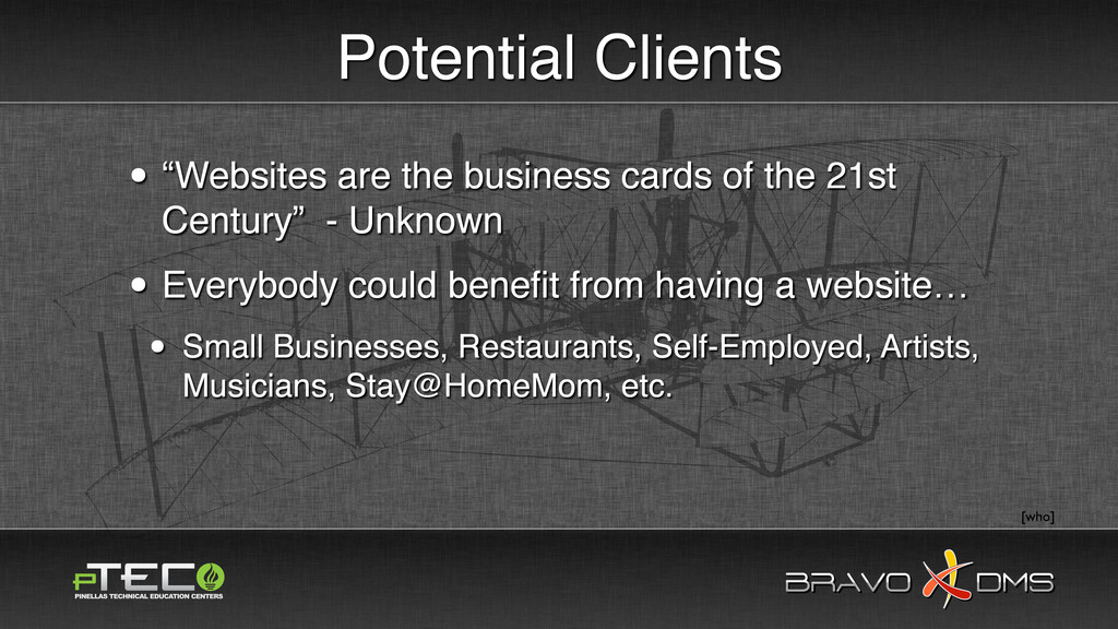 "BRAVO DMS BRAVO DMS Potential Clients • ""Websit..."