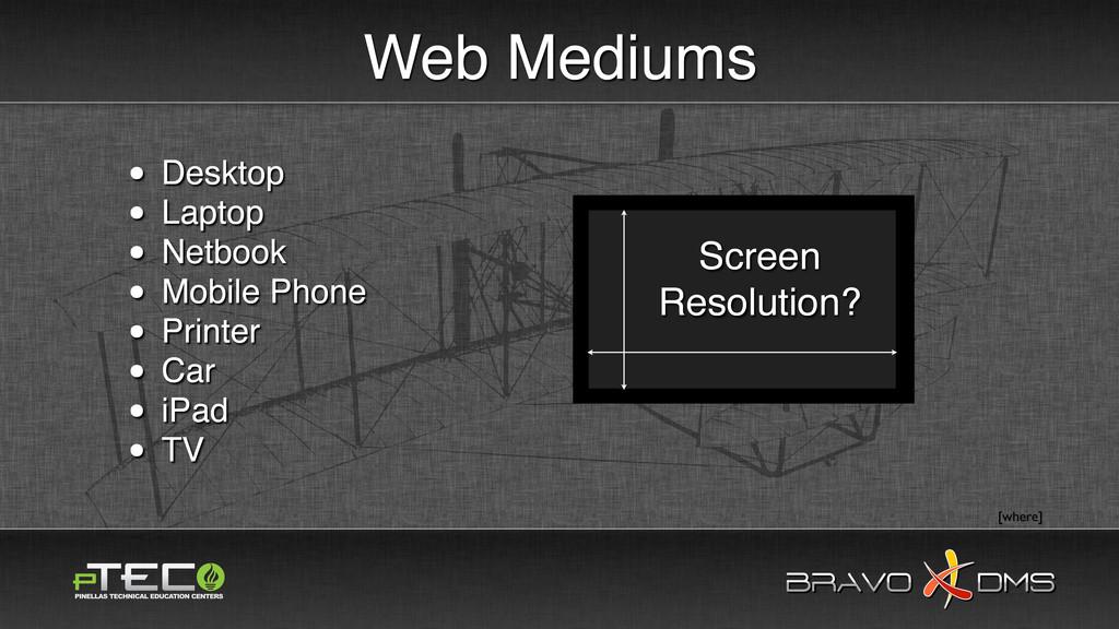 BRAVO DMS BRAVO DMS Web Mediums • Desktop • Lap...
