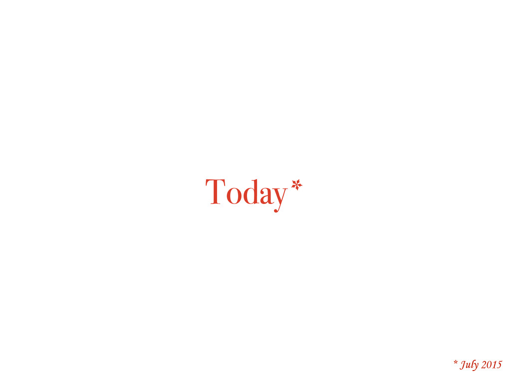 Today* * July 2015