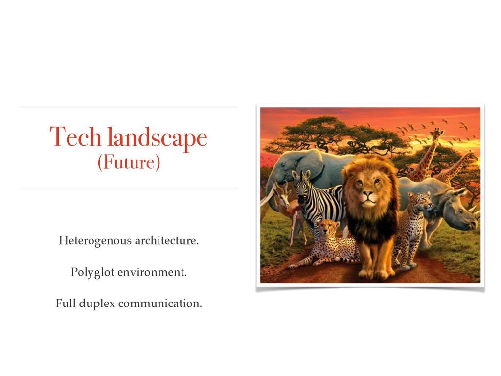Tech landscape (Future) Heterogenous architectu...