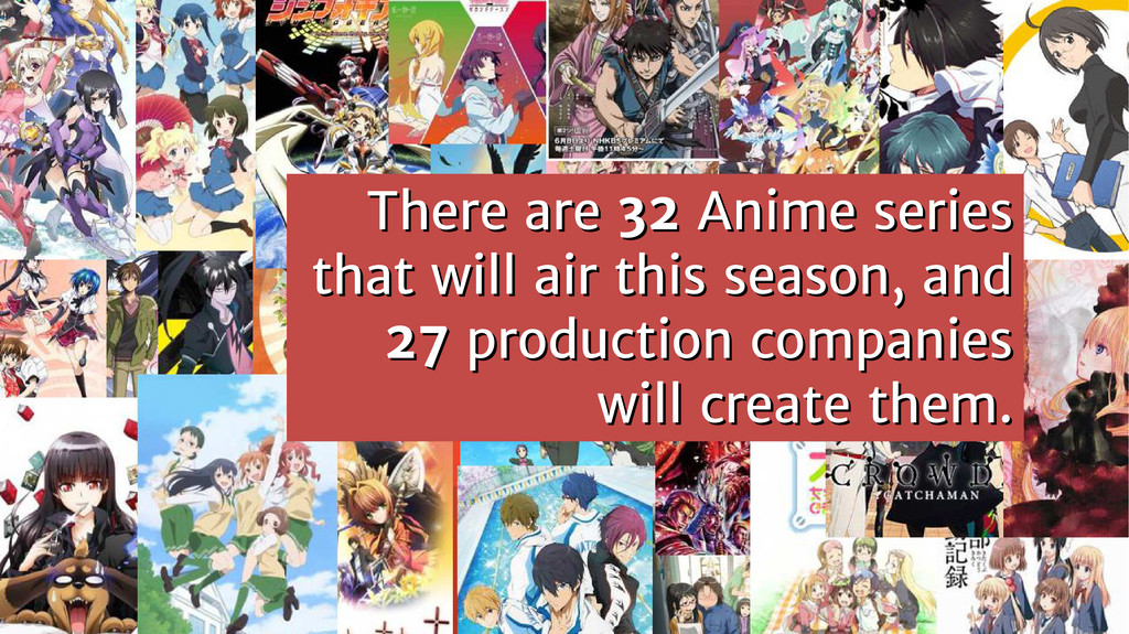 There are There are 32 32 Anime series Anime se...