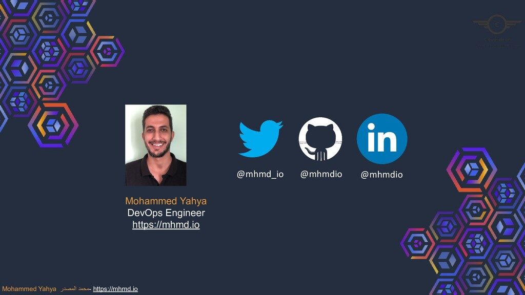 Mohammed Yahya DevOps Engineer https://mhmd.io ...