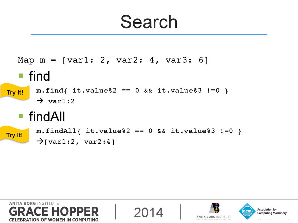2014 Search Map m = [var1: 2, var2: 4, var3: 6]...