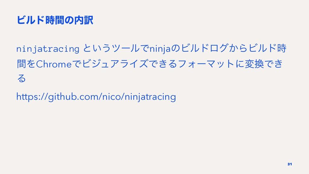 Ϗϧυؒͷ༁ ninjatracing ͱ͍͏πʔϧͰninjaͷϏϧυϩά͔ΒϏϧυ ...