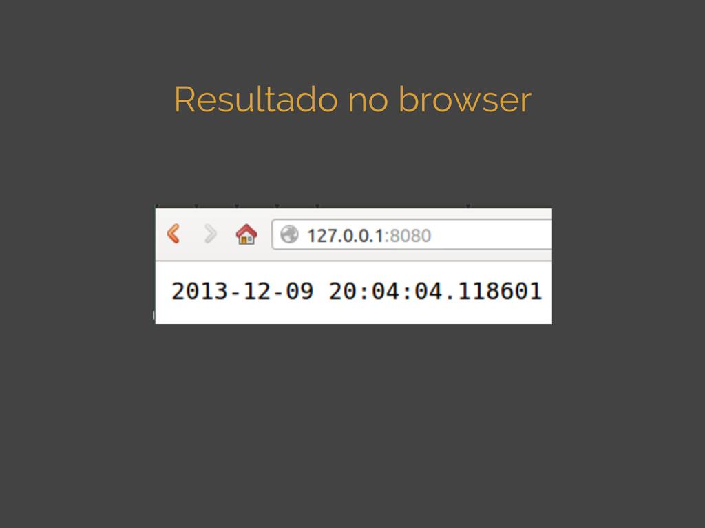 Resultado no browser