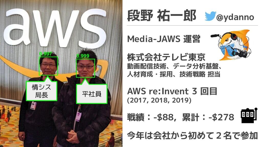 情シス 局長 0.997 段野 祐一郎 @ydanno Media-JAWS 運営 株式会社テ...