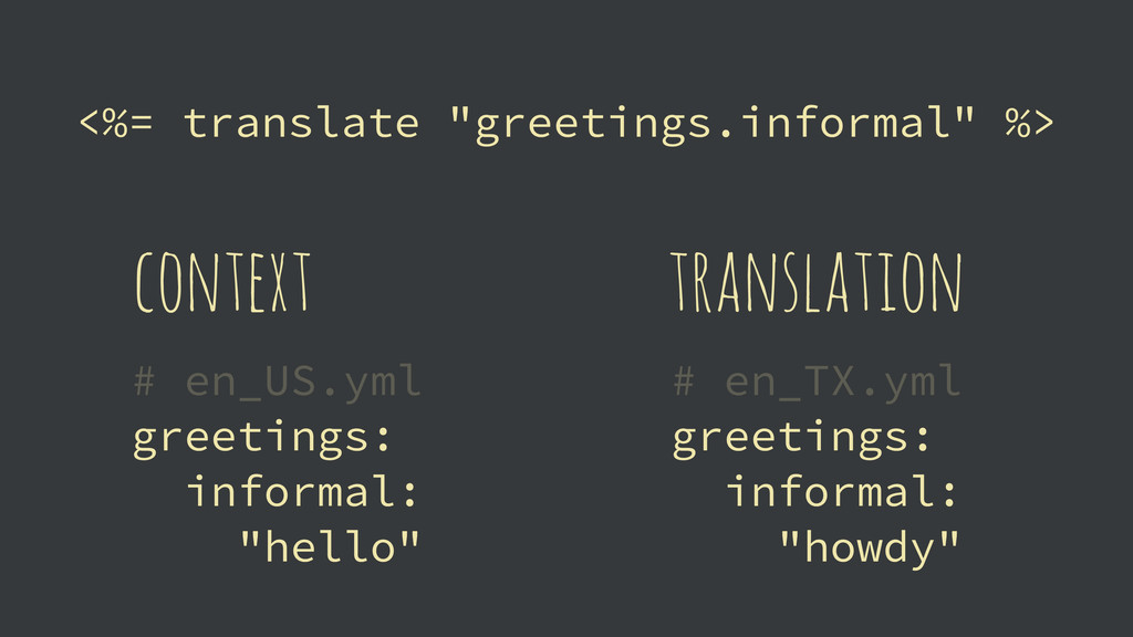 """<%= translate """"greetings.informal"""" %> # en_US.y..."""