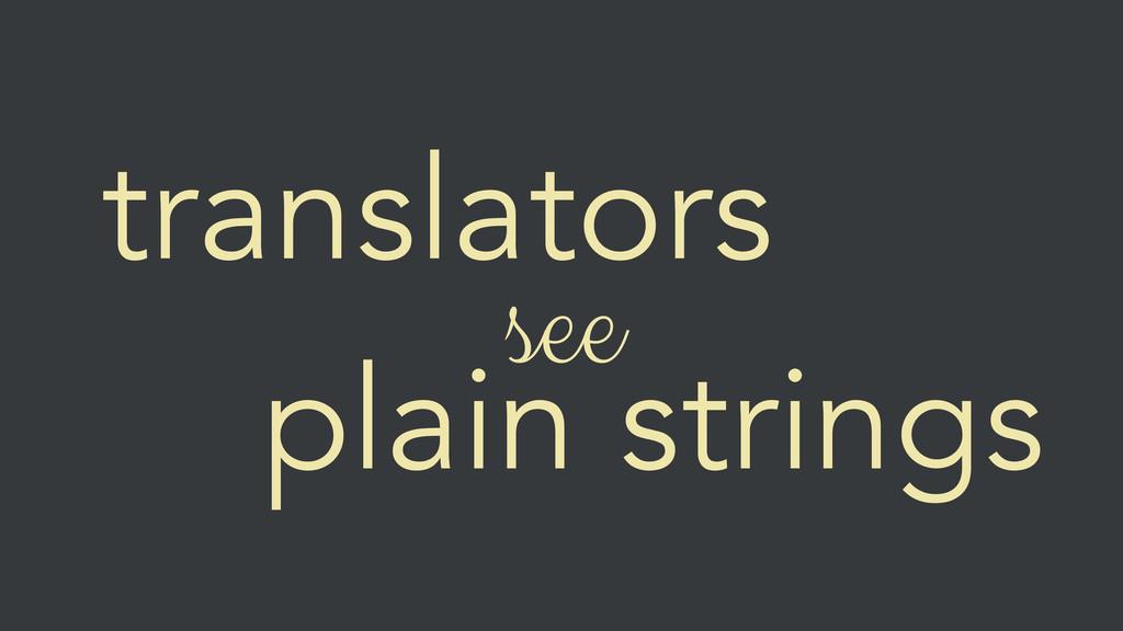 translators see plain strings