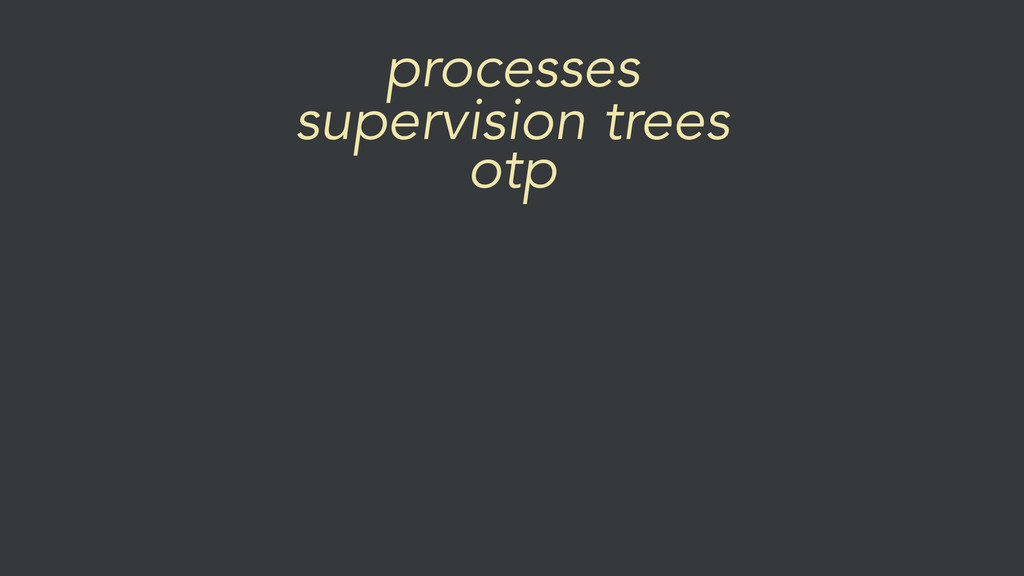 processes otp supervision trees