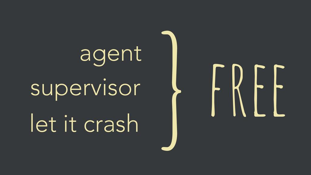 free } agent supervisor let it crash