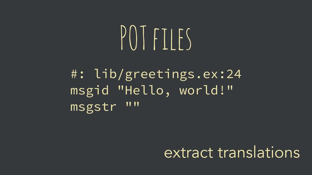 extract translations POT files #: lib/greetings...