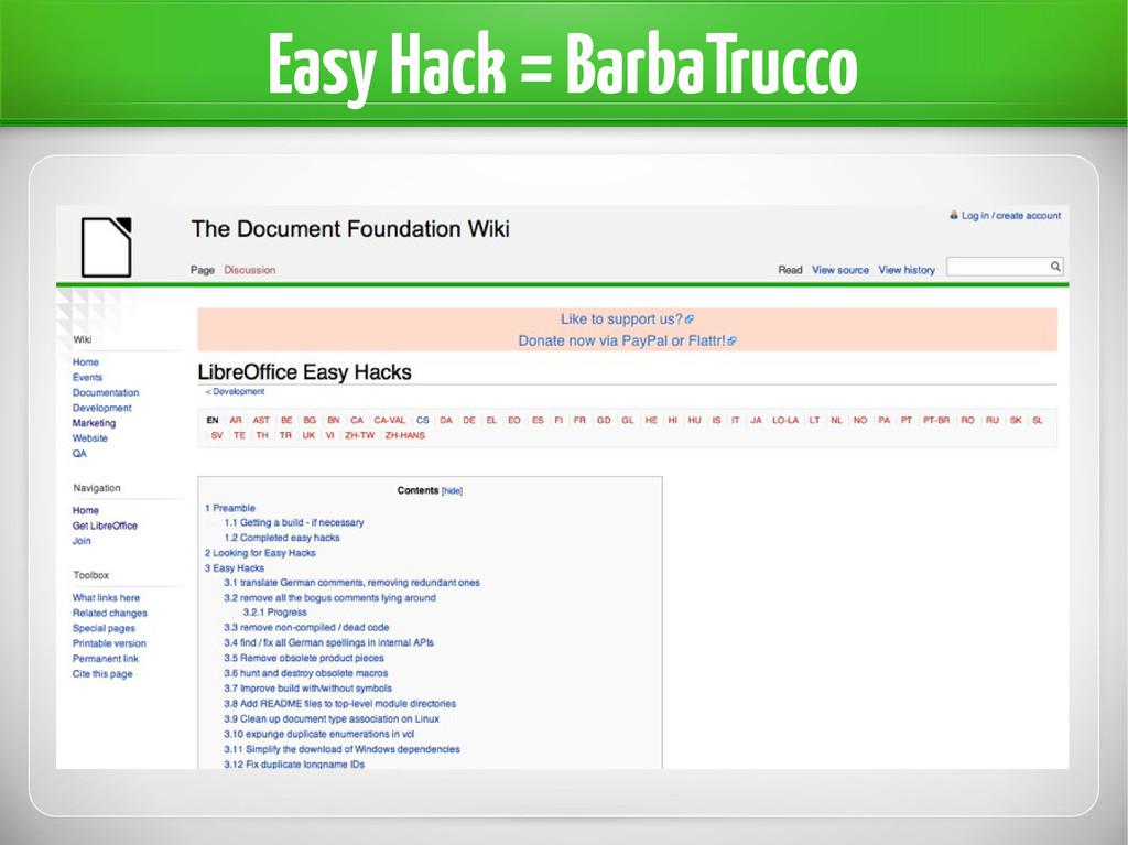 Easy Hack = BarbaTrucco