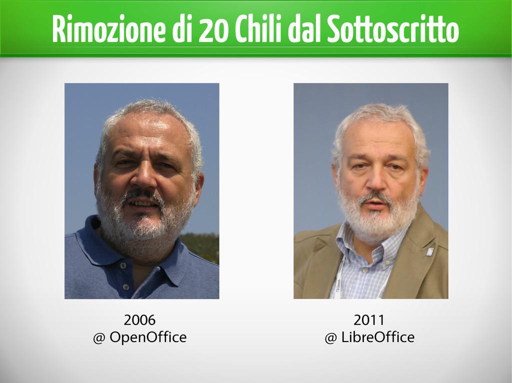 Rimozione di 20 Chili dal Sottoscritto 2006 @ O...